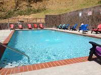 Seasonal outdoor pool at Wildbriar Resort in Pigeon Forge