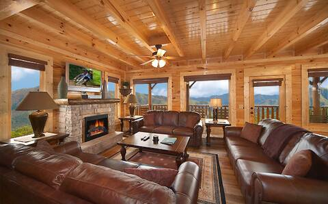 Cades Cove Castle 8 Bedroom Cabin Rental