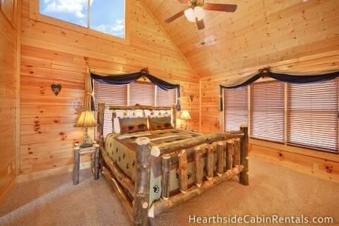 Heavenly view 3 bedroom cabin rental for Heavenly cabin rentals