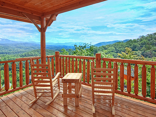 View of paradise 1 bedroom cabin from hearthside cabin rentals Best mountain view cabins in gatlinburg tn